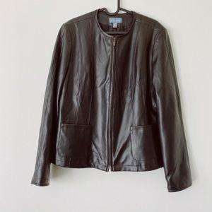 NWOT TRÈS YOu Large Faux Leather jacket